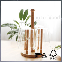 Wooden drinking glass holder wooden glass drying rack drinking glass rack