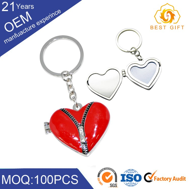 heart design with mini keychain mobile phone