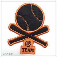 Cheap custom baseball club embroidery patch badge for jersey