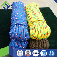 Blue or gold braided polyester/nylon/pp anchor rope for marine supplies