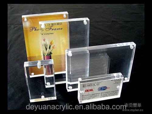 Transparent acrylic fridge magnetic photo frame