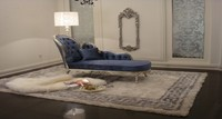 Elegant indoor chaise lounge, antique french lounge bed