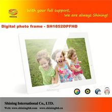 SH1852DPFHD tumbler picture frame new digital photo frame fancy gift photo frame