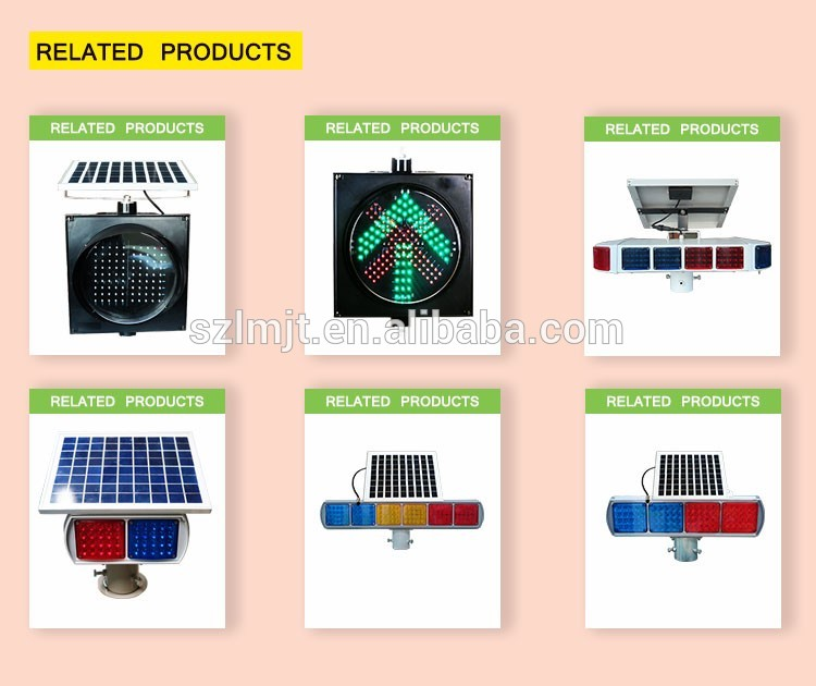 2018 top sale solar flashing led trafic signal light