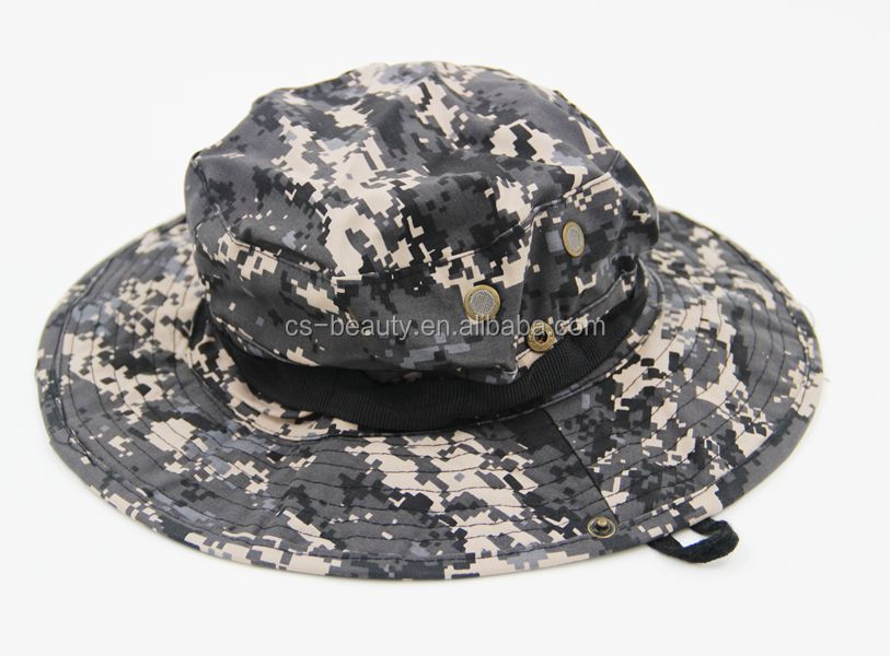 Wholesale Digital camo Tactical millitary army camouflage Brim Buckle bonnie hat outdoor Visor cap