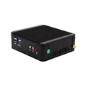 12V portable station J1900 mini pc, coms with celeron J1900 up to 2.42GHz, cna support 2ethernet port,VGA.
