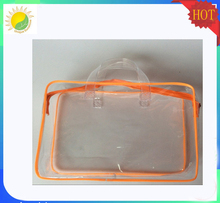 Customized clear pvc ziplock bag pouch for cosmetics