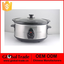 3.5L Oval Shape Electric Slow Cooker with CE/ROHS with ceramic port 3 heat setting Low High Warm
