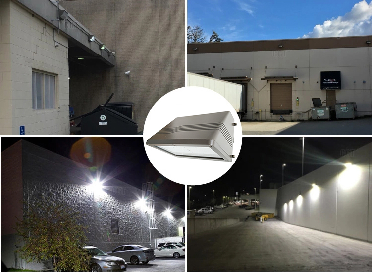 60w full cut off outdoor led wall pack light with aluminum housing