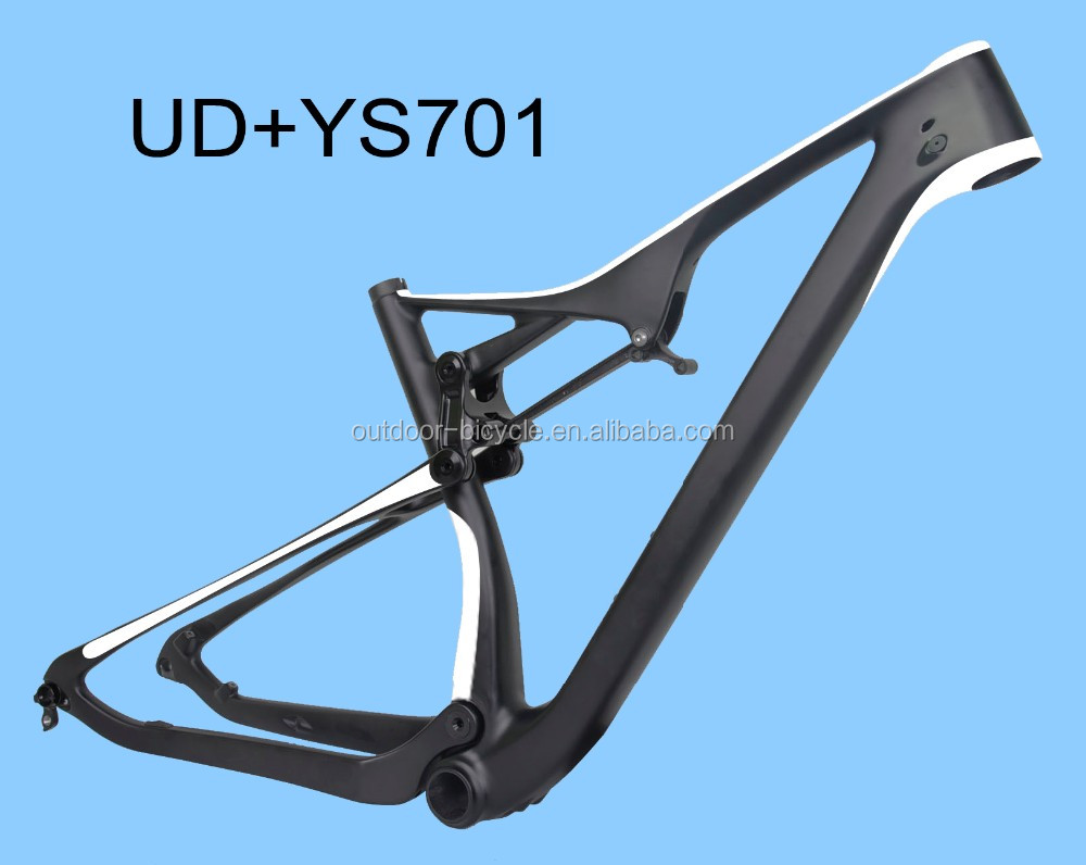 popular Chinese carbon 29er new EPS full suspension XC frame BB92 white/UD 29 inch mountain frame thru axle 142*12mm