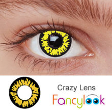 Light Yellow Bling Twilight Werewolf contact lenses SFDA approved yearly disposable crazy lenses