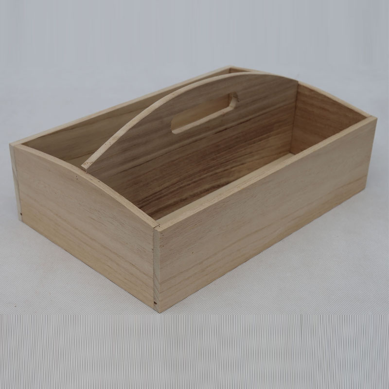 Natural mdf beech folding wooden fruit basket