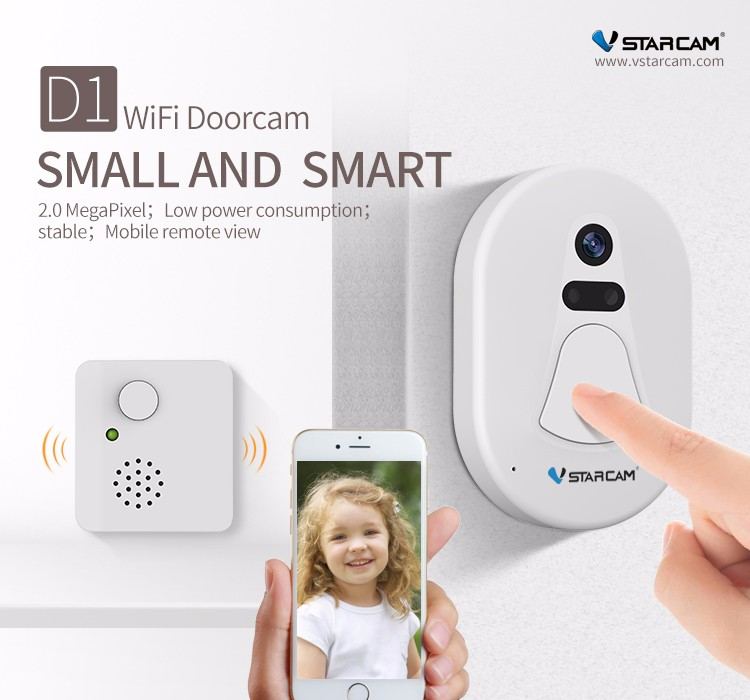 VStarcam play and plug surveillance Doorbell battery powered wireless ip camera