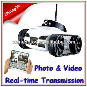 2013 Hot Sale Photo Video Real-time Transmission Wifi Wireless Android Iphone Controlled iSpy Tank Toy with Camera