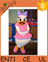 plush cartoon mascot costume, cartoon duck costume for advertising