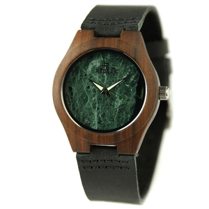 Fashion Marble Dial with Nature Wooden Case, 2017 New Trendy Wooden Luxury Watch for Lady