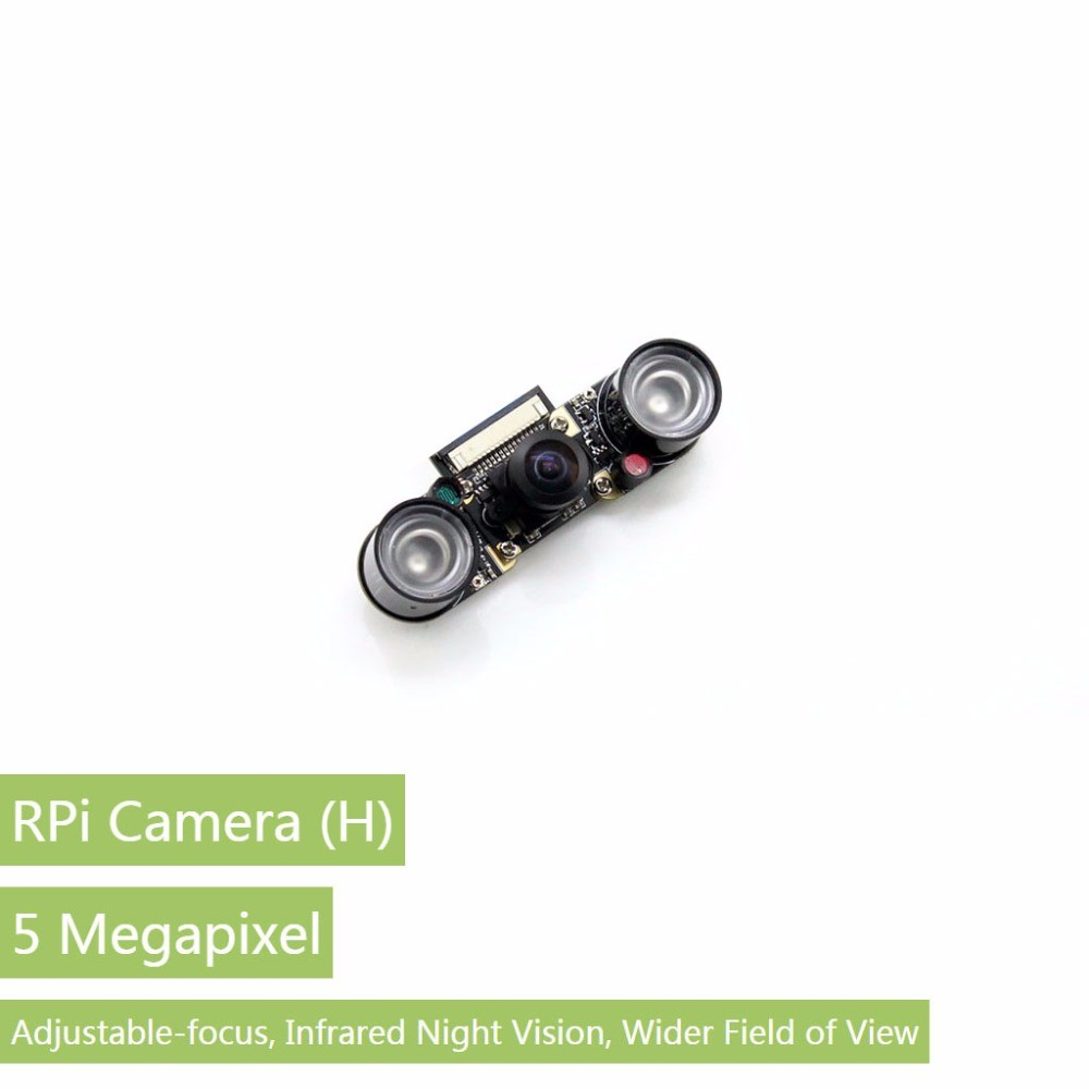 Raspberry Pi <strong>2</strong> Camera (H) Fisheye Lens Wider Field of View Supports Night Vision