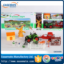 HOT SELLING PLASTIC FRICTION POWER FARM CAR FOR KIDS