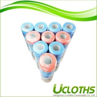 Absorbent wood pulp & polyester novelty cleaning cloth