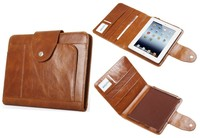 Deluxe Leather Organizer Folder Case for iPad Air