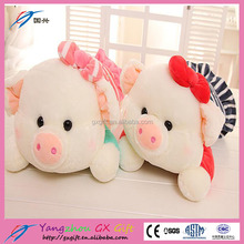 New funny stuff plush purple pig