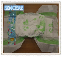 Colored printing breathable baby diapers harmless for baby skin