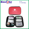 Car emergency first aid kit bag with whistle and flashlight