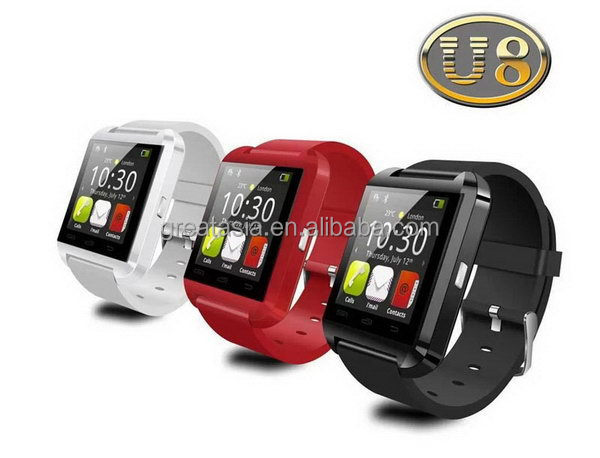Bottom price promotional pedometer bluetooth watch cell phone