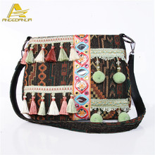 2016 fashion ethnic india style cute washed canvas crossbody bags