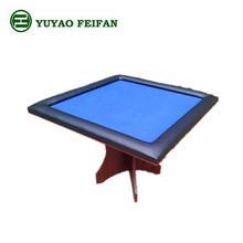 2 in 1 square double use game table with one wooden leg