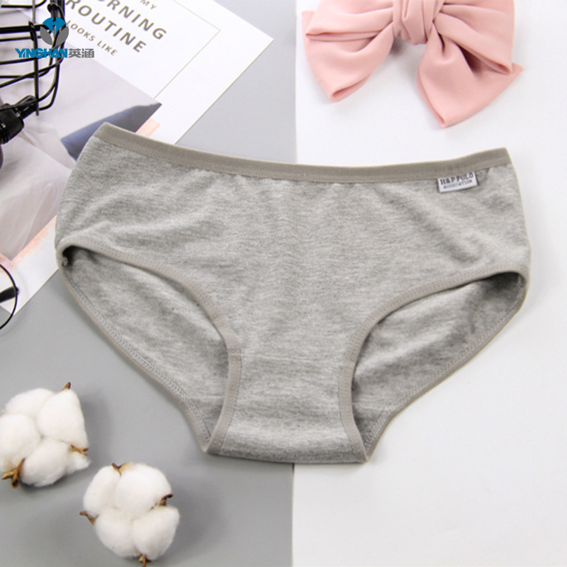 Wholesale solid color high waist ladies panties sexy women cotton underwear <strong>A001</strong>