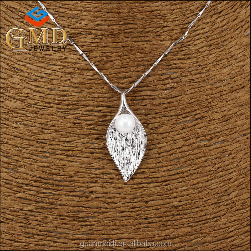 Wholesale masonic items latest design elegant pure silver leaf pendant