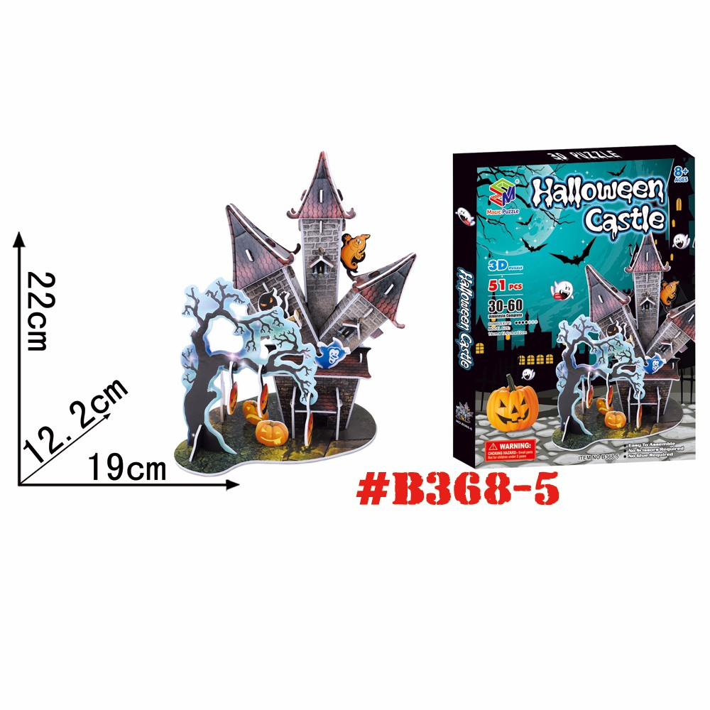 Horrible Castle 3d jigsaw puzzle Halloween Gift