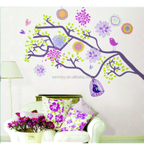 Adhesive DIY wall sticker a cage bird tree decoration sitting room bedroom removable sticker