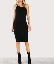 Bodycon Black Sexy Low Back Pencil women Dress
