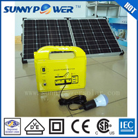 Sunny power foldable solar panel 20W/40W/60W/80W/100W/120W solar energy home system