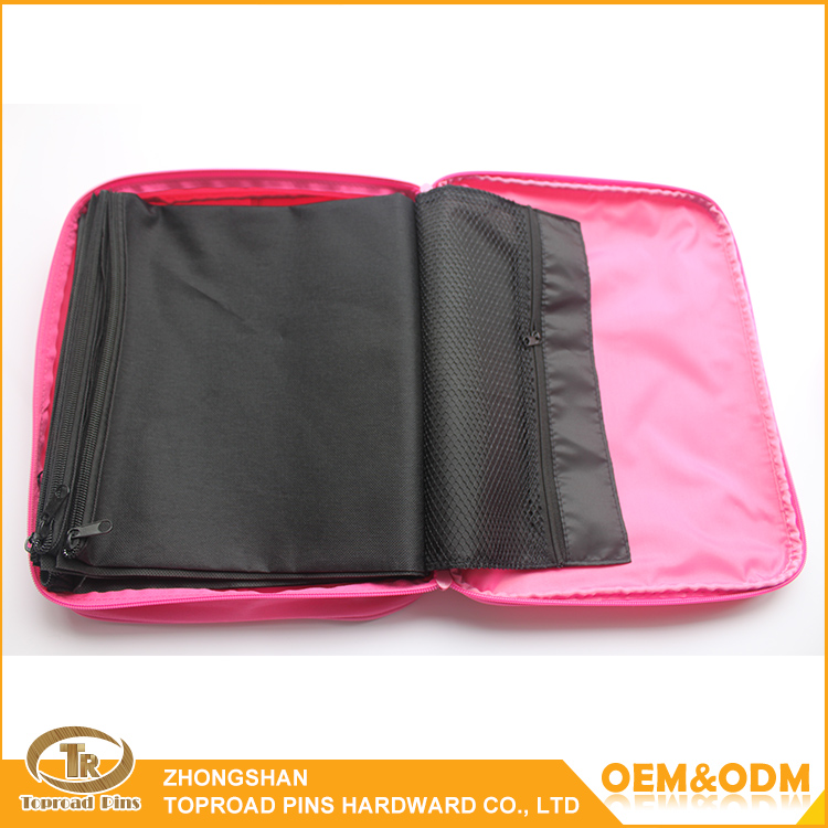 New Durable Multifunctional Trading Collection Bags Pink Polyester Badges Pin Bags
