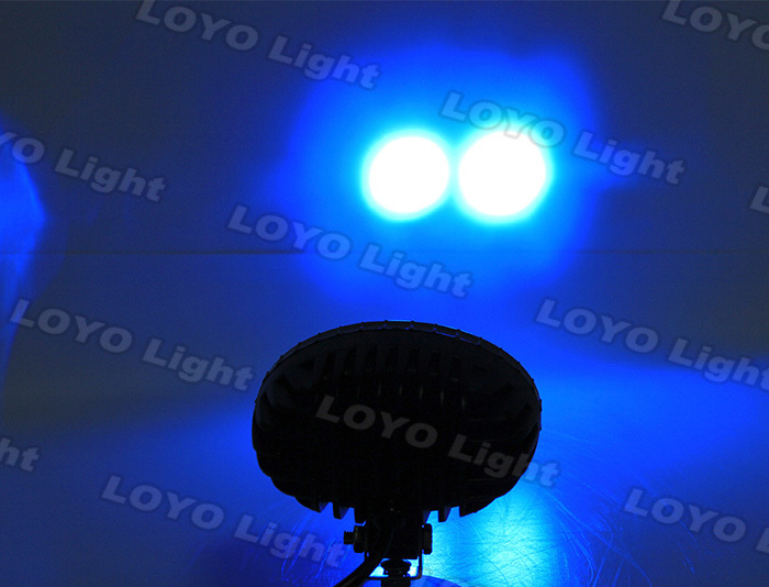 High power 9-60V DC blue led work light forklift safety lamp 10W forklift blue light
