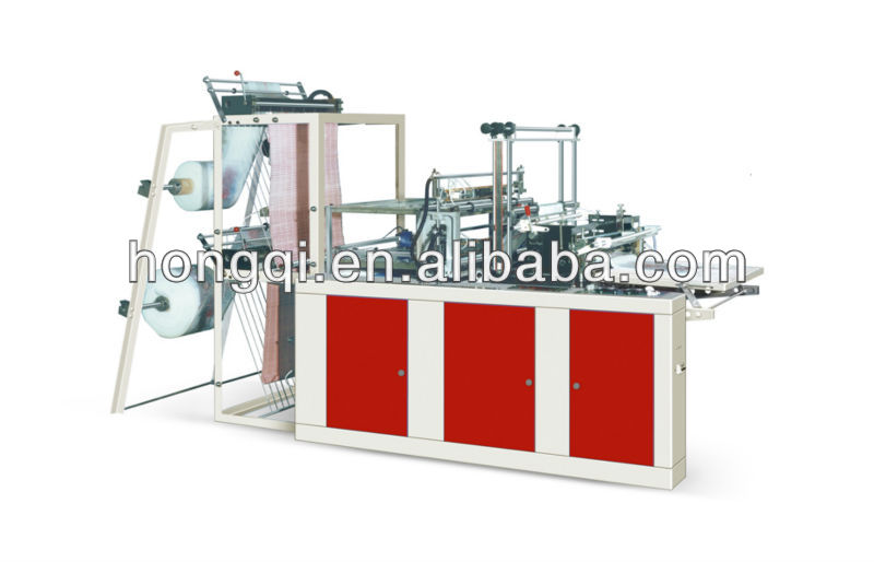 heat-sealing and cold-cutting vest&flat carry bag making machine single line