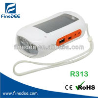 R313 Recharge Cellphone FM scan radio Solar camping light with radio