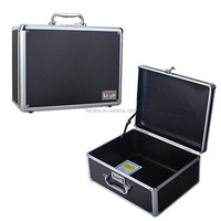 2015 silver aluminum tool case wih number lock and handle