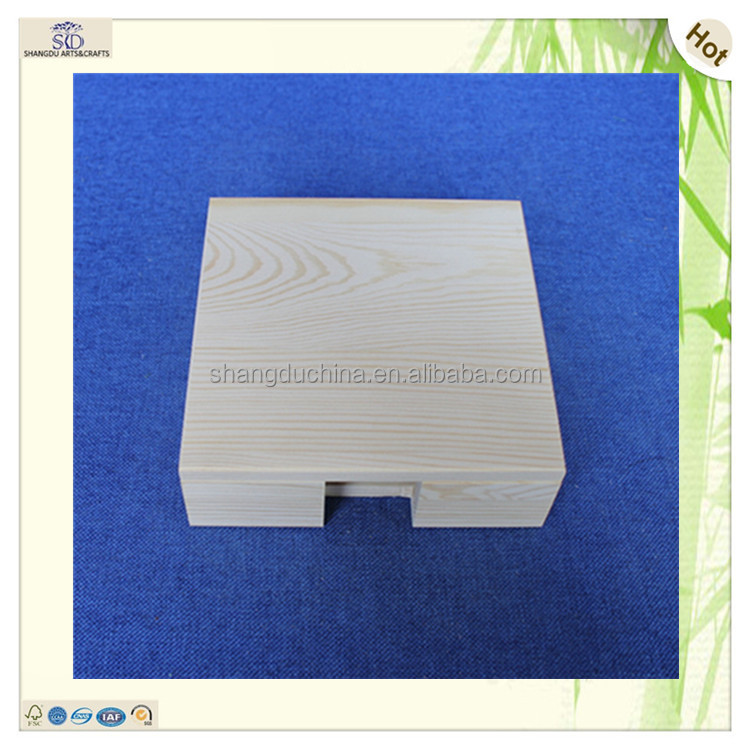 natural plain delicate small square pine wooden key box