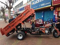 Loncin 3000kg motorized self-discharging heavy load double rear wheel cargo three wheeler/big cargo box tricycle