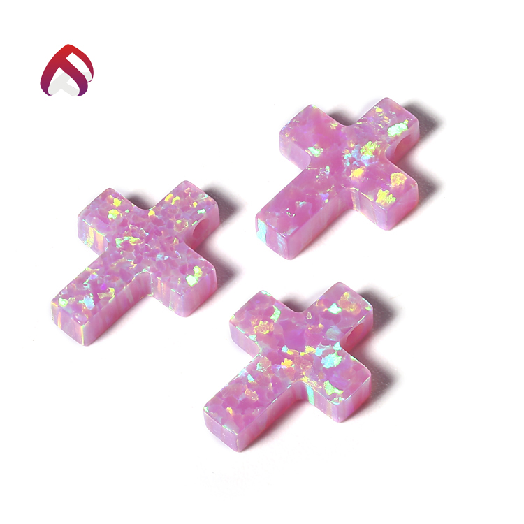top sale cross blue pink synthetic welo opal bulk 5x7mm