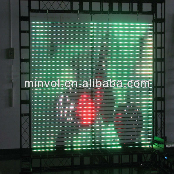 eMatrix P25x50 IP67 led high transparence display screen for TV