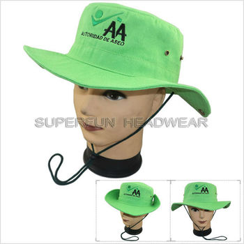 100% cotton big brim bucket hats and sun hats with string