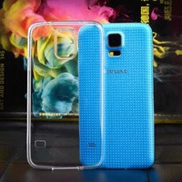 For Samsung galaxy S5 i9600 cell phone case, transparent ultra thin TPU case