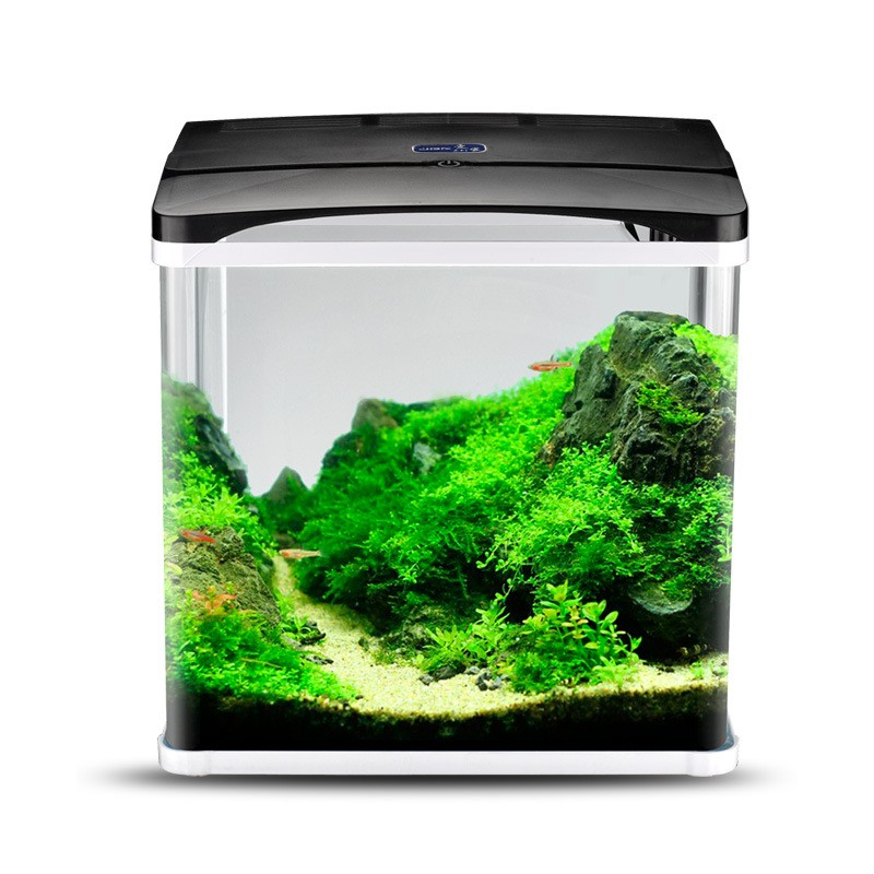 Aquarium Nano Fish Tank Complete Tropical Coldwater LED Light With Cabinet