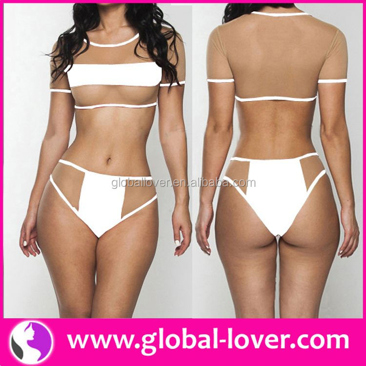 2015 new design short sleeve xxl six 2014 xxl sex ladies bikini photo