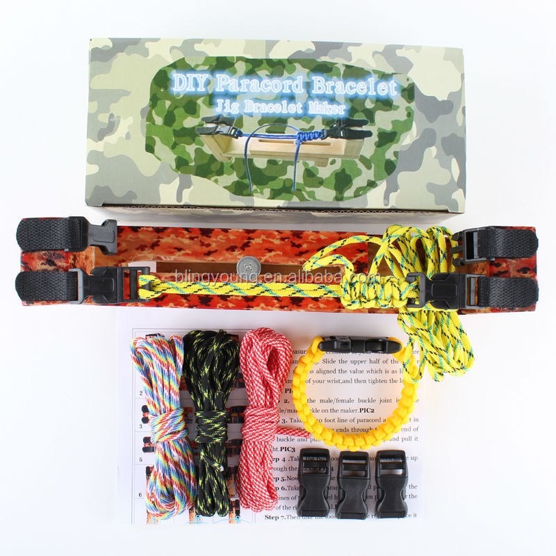 High quality professional manufactory how to make parachute cord bracelet